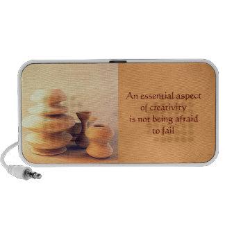 Ceramic Pottery Still Life I - Light and Shadow Portable Speaker