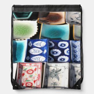 Ceramic Tableware Drawstring Backpacks