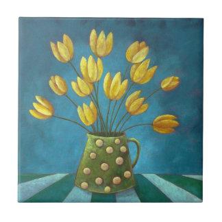 """Ceramic Tile """"Golden Moment"""""""