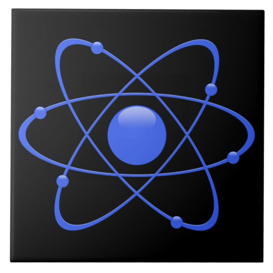 Ceramic Tile THE ATOM 1950s Retro Vintage M