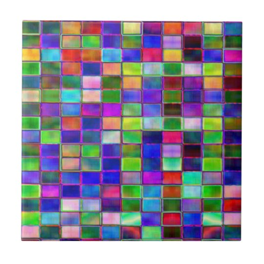 Ceramic tiles - coloured blocks design
