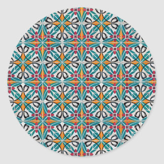 Ceramic tiles round sticker