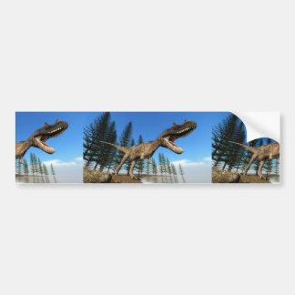 Ceratosaurus dinosaur at the shoreline bumper sticker