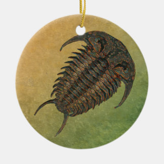 Ceraurus Fossil Trilobite Double-Sided Ceramic Round Christmas Ornament