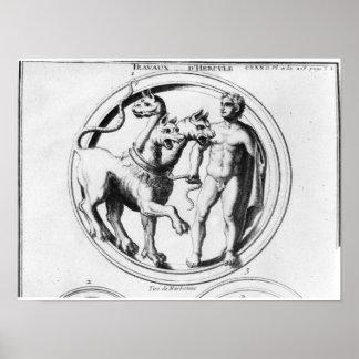 Cerberus Tamed by Hercules Poster