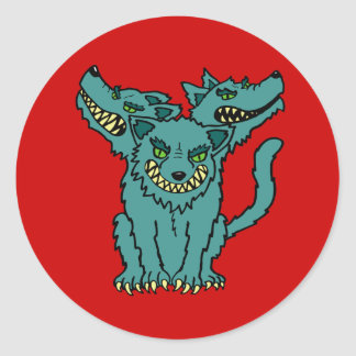 Cerberus - The Three Headed Hell Hound Classic Round Sticker