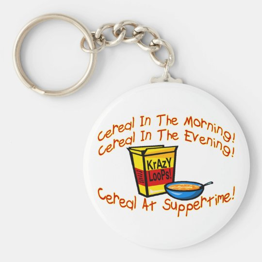 Cereal All The Time Basic Round Button Key Ring