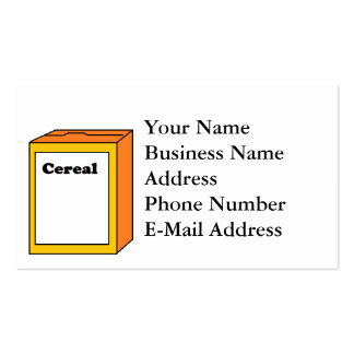 Cereal Box Cartoon Pack Of Standard Business Cards