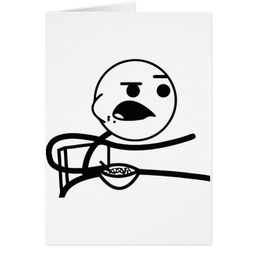 Cereal Guy Greeting Card
