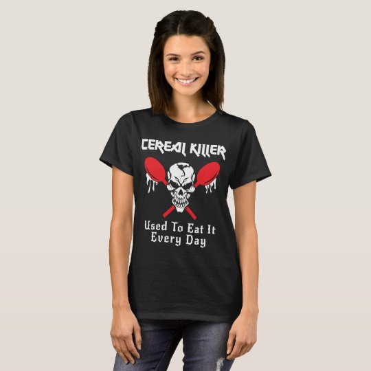 Cereal Killer Funny Halloween Costume T-Shirt