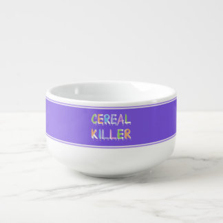 Cereal Killer Pun Cereal Bowl Soup Bowl With Handle