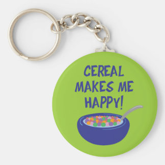 Cereal Makes Me Happy Key Ring