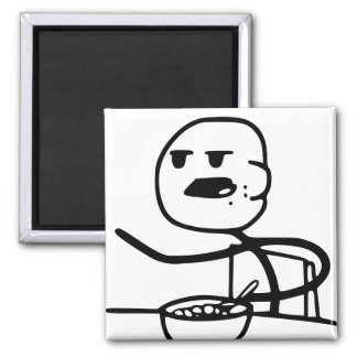 Cereal Meme Guy Square Magnet