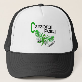 Cerebral Palsy BUTTERFLY 3 Trucker Hat
