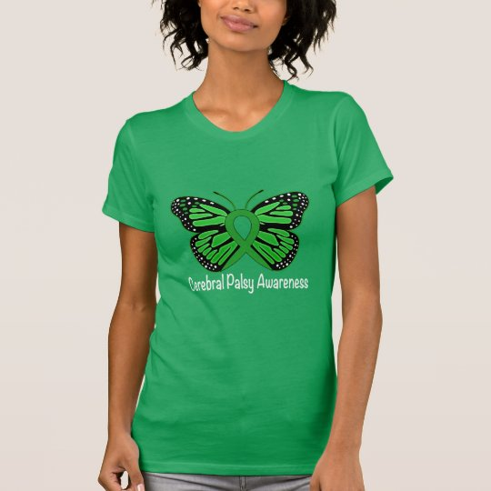 Cerebral Palsy Butterfly Awareness Ribbon T-Shirt
