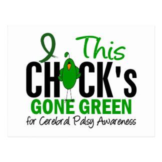 CEREBRAL PALSY Chick Gone Green Postcard