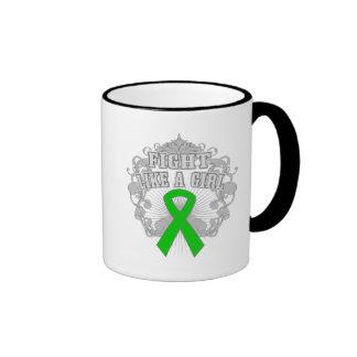 Cerebral Palsy Fight Like A Girl Fleurish Coffee Mug