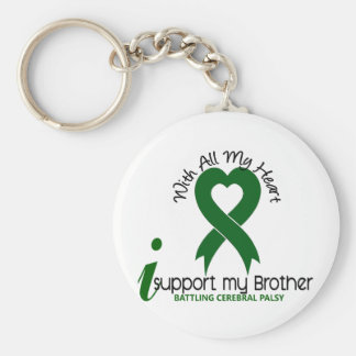 Cerebral Palsy I Support My Brother Key Chain