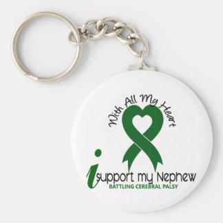 Cerebral Palsy I Support My Nephew Key Chain