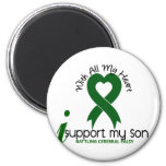Cerebral Palsy I Support My Son 6 Cm Round Magnet