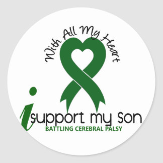 Cerebral Palsy I Support My Son Round Sticker