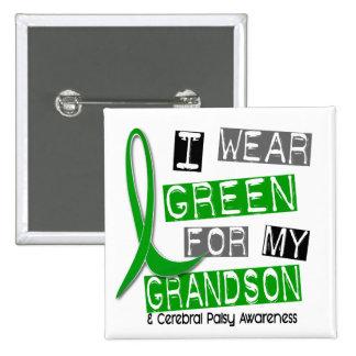 Cerebral Palsy I Wear Green For My Grandson 37 15 Cm Square Badge