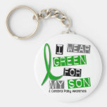 Cerebral Palsy I Wear Green For My Son 37 Basic Round Button Key Ring