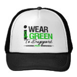 Cerebral Palsy I Wear Green Ribbon For Awareness Cap