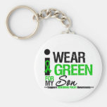Cerebral Palsy I Wear Green Ribbon For My Son Basic Round Button Key Ring