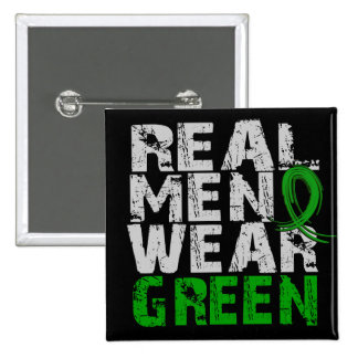 Cerebral Palsy Real Men Wear Green 15 Cm Square Badge