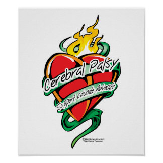 Cerebral Palsy Tattoo Heart Print