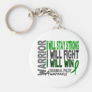 Cerebral Palsy Warrior Basic Round Button Key Ring