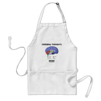 Cerebral Thoughts Inside Brain Humor Aprons