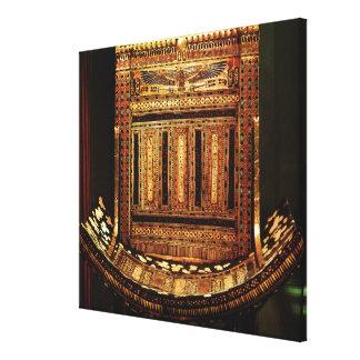 Ceremonial Chair of Tutankhamun Canvas Print