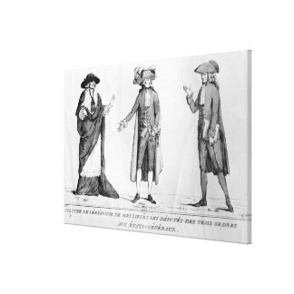 Ceremonial Costumes of the Deputies Canvas Print