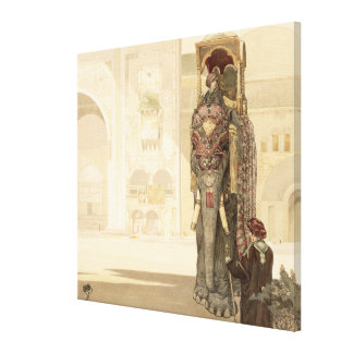 Ceremonial Elephant, from 'The Jungle Book' by Rud Canvas Print