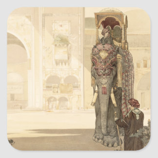 Ceremonial Elephant, from 'The Jungle Book' by Rud Square Sticker