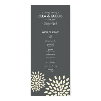 Ceremony Program // Posh Petals // Vanilla 10 Cm X 24 Cm Invitation Card