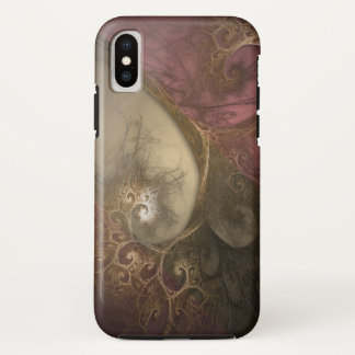 Cerise Fractal Magic iPhone X Case