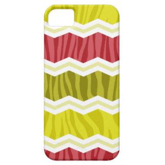 Cerise Red, Citrine, Yellow Zebra Stripes iPhone 5 Case