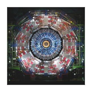 CERN LARGE HADRON COLLIDER GALLERY WRAPPED CANVAS