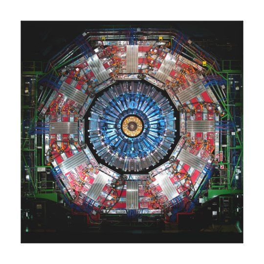 CERN LARGE HADRON COLLIDER CANVAS PRINT