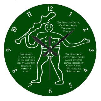 Cerne Giant Lucky Fertility Symbol Clock