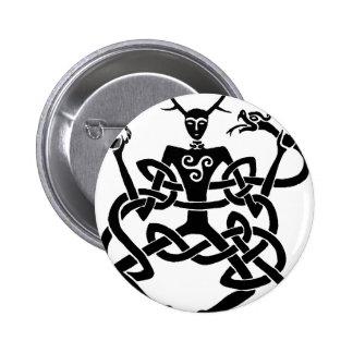 cernunnos 6 cm round badge