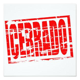 Cerrado red rubber stamp effect card