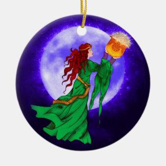 Cerridwen Celtic Wiccan Yule Ornament