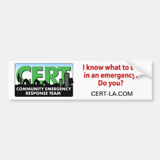 CERT Bumper Sticker-customize Bumper Sticker