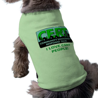 CERT Dog Shirt-colors Sleeveless Dog Shirt