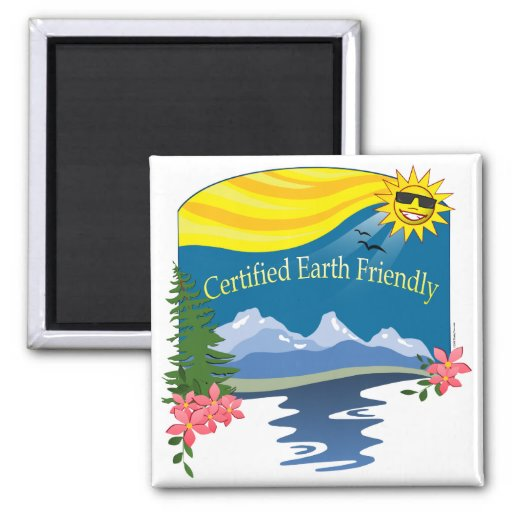 Cert. Earth Friendly Refrigerator Magnets