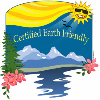 Cert. Earth Friendly Standing Photo Sculpture